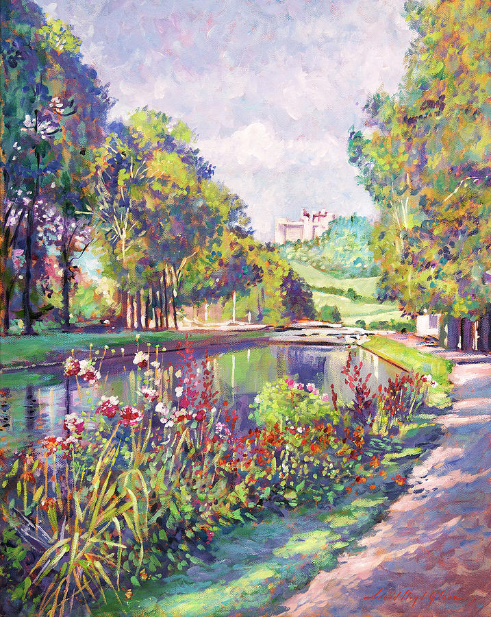 Garden On The Canal Painting