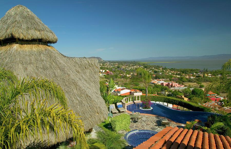 Garden Overlooking Lake Chapala Photograph by Design Pics