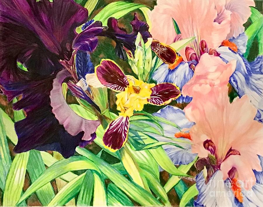 Garden Party Collage by Laurel Adams
