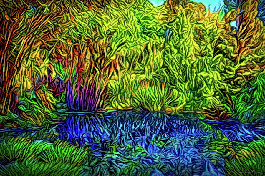 Garden Pond Delights by Joel Bruce Wallach