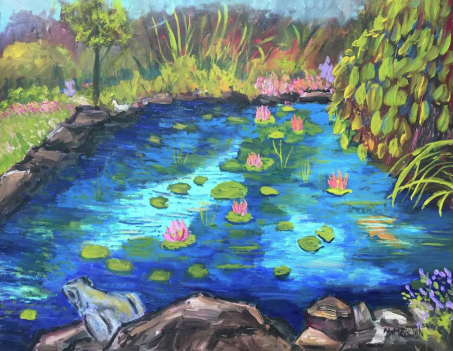 Garden Pond Painting by Marita McVeigh