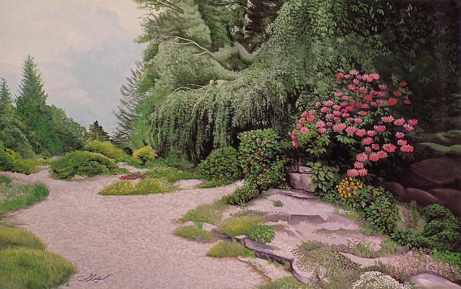 Garden Painting - Garden by Said Marie