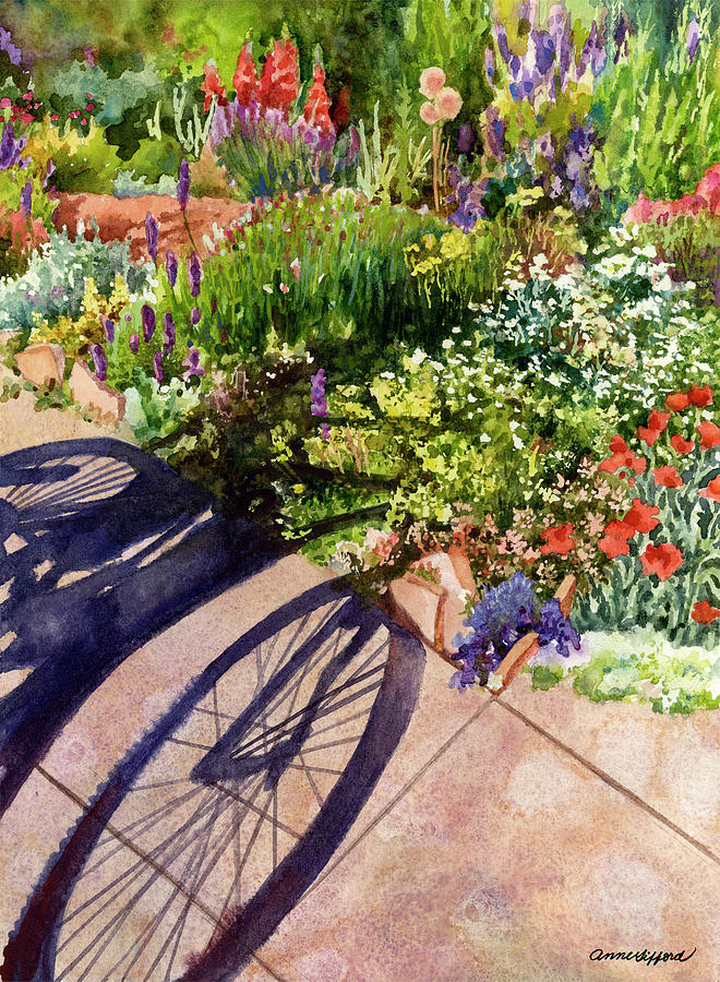 Garden Shadows II by Anne Gifford