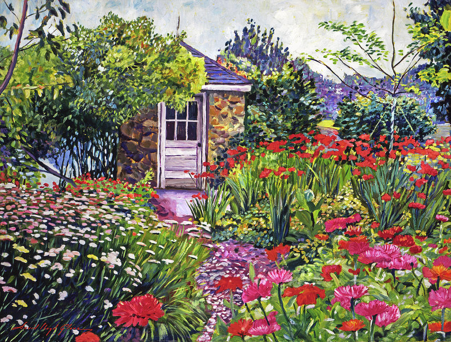 GARDENER'S STONE SHED by David Lloyd Glover