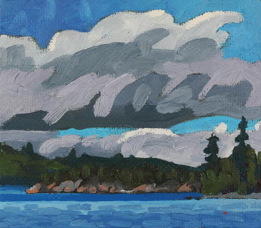 May Painting - Gargantua Harbour Island by Phil Chadwick