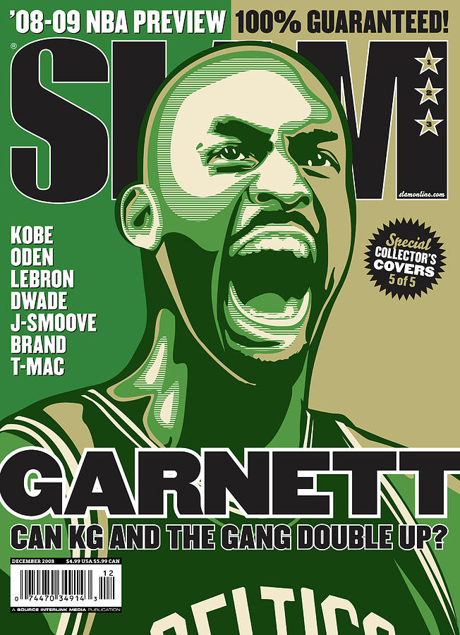 Garnett: Can KG and the Gange Doube Up? SLAM Cover Photograph by Slam