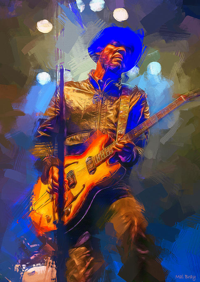 Gary Clark Jr Mixed Media - Gary Clark Jr by Mal Bray