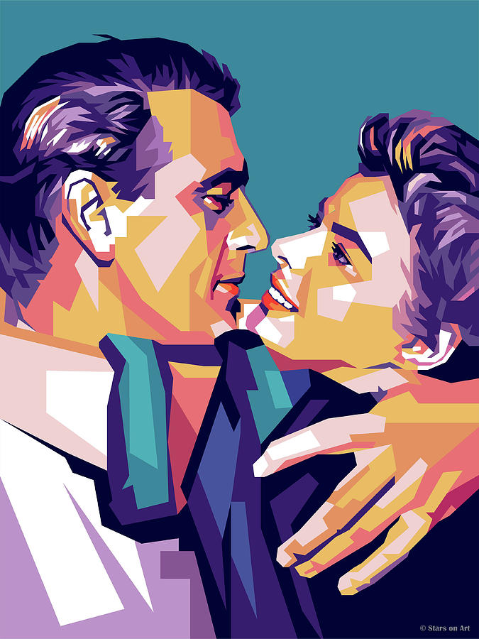 Gary Cooper And Ingrid Bergman Digital Art