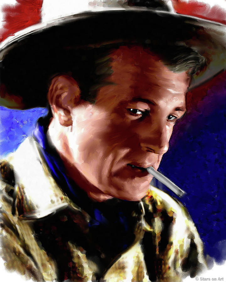 Gary Cooper Painting Painting