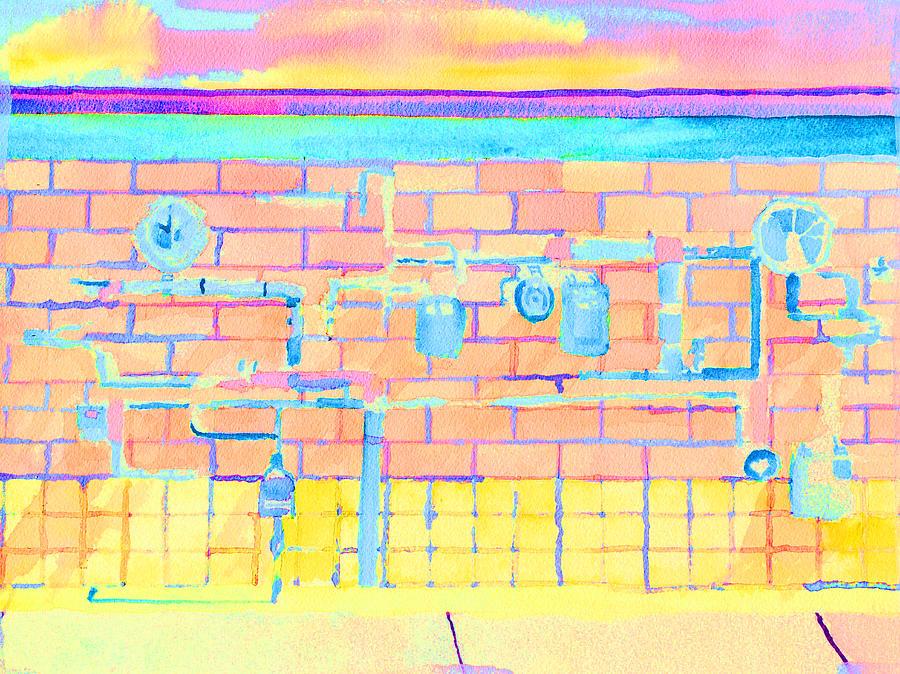 Gas Meters in Pastel Colors by Paul Thompson