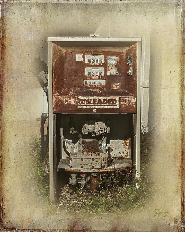 Gas Photograph - Gas Pump - Everett Corner Store by Jim Ziemer