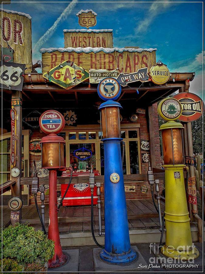 Gas Pumps by Scott Parker