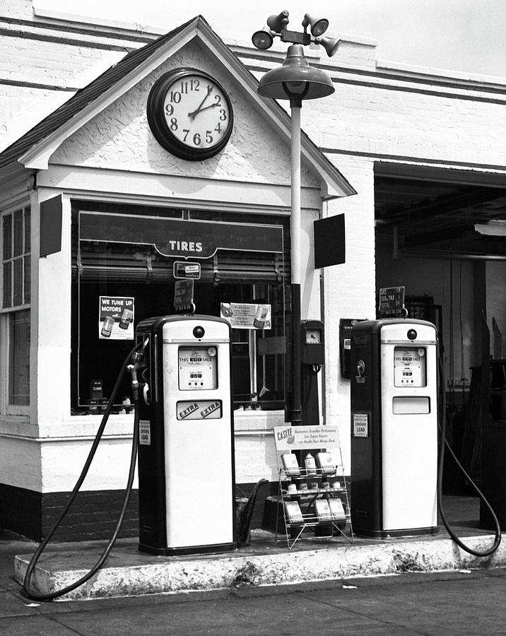 Gas Station Photograph by George Marks