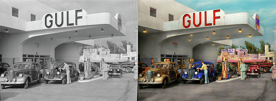 Gas Station - The great american road trip 1939 - Side by Side by Mike Savad