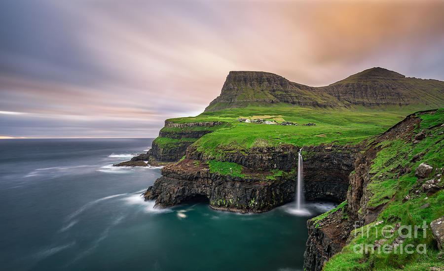 Country Photograph - Gasadalur Village And Its Iconic by Nick Fox