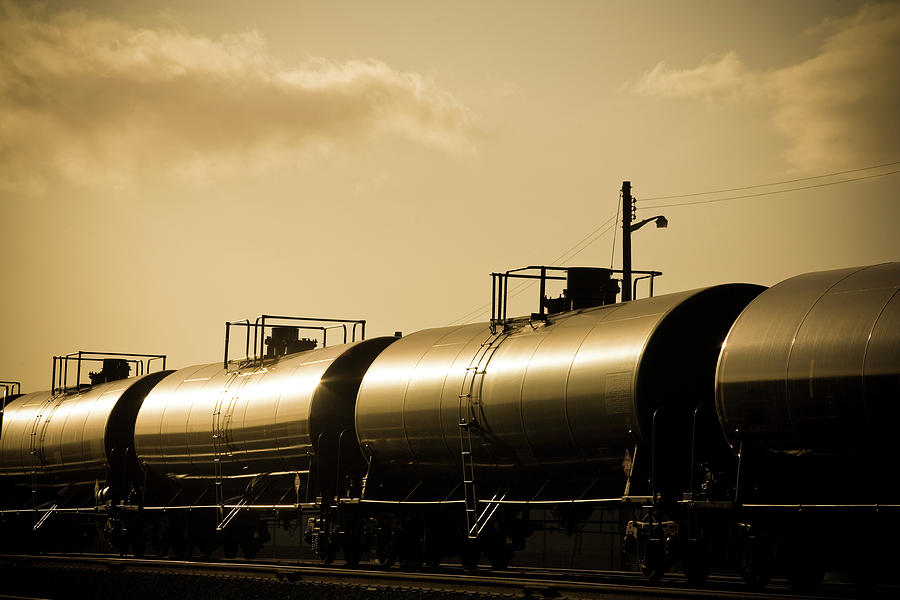 Gasoline Train At Sunset Photograph by Halbergman