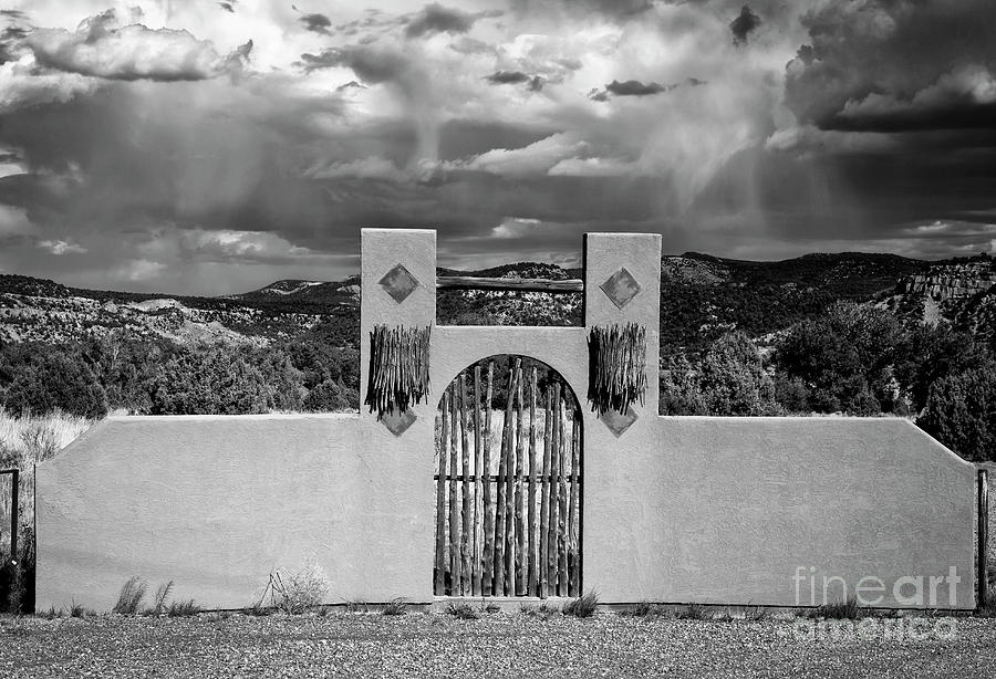 Gate In The West in Black and White by Jaime Miller
