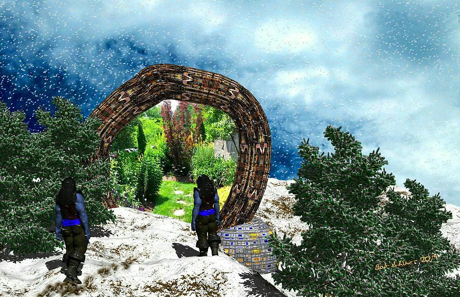 Scifi Digital Art - Gateway To Summer by Bob Shimer