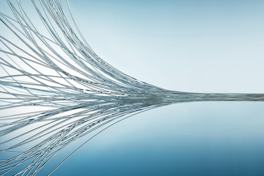 Gather Up Fiber Optics Photograph by Yuji Sakai