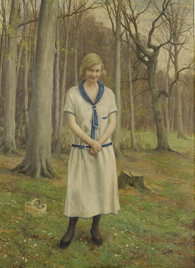 Gathering Daisies  by Paul Fischer