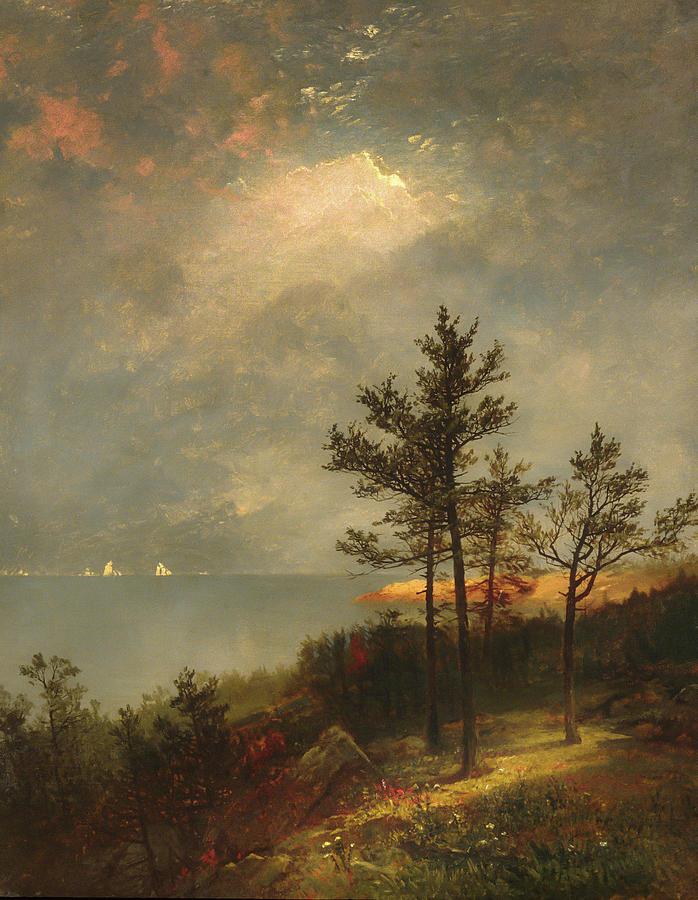 Gathering Storm on Long Island Sound by John Frederick Kensett