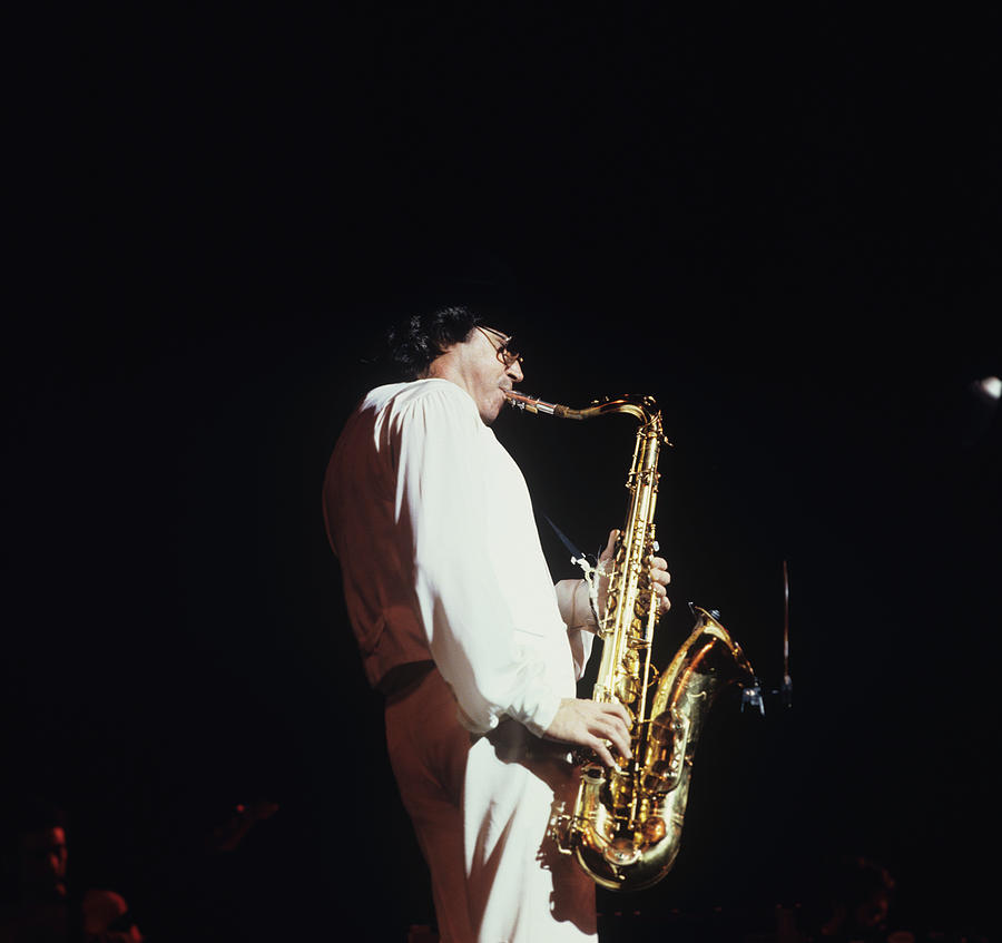 Gato Barbieri Performs At Newport Photograph by David Redfern