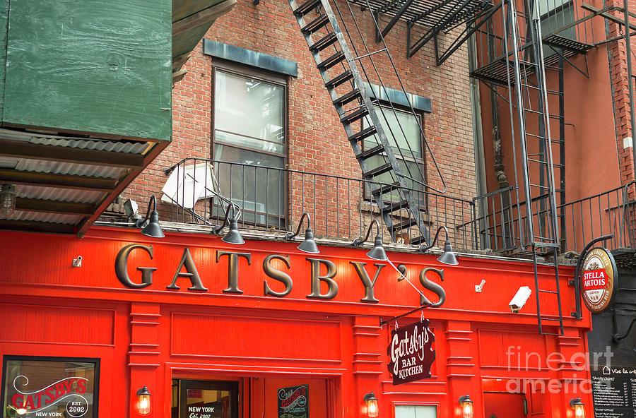 Bar Photograph - Gatsbys Bar New York City by John Rizzuto