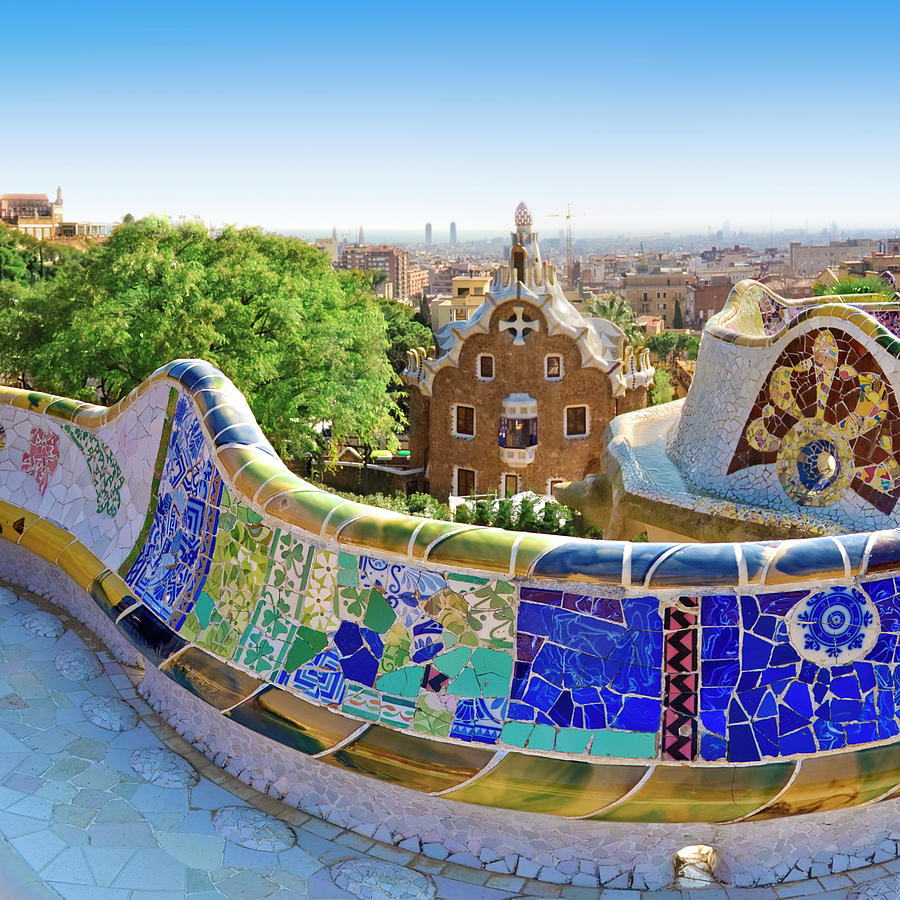 Gaudis Parc Guell In Barcelona Photograph by Samburt