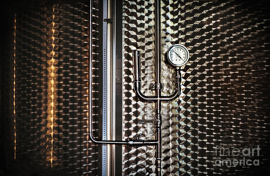 gauge tube pressure pipe background silo steampunk texture winery by Luca Lorenzelli