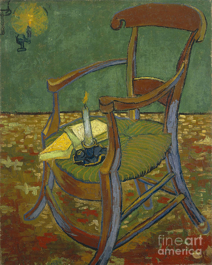 Gauguins Chair, 1888. Artist Gogh Drawing by Heritage Images