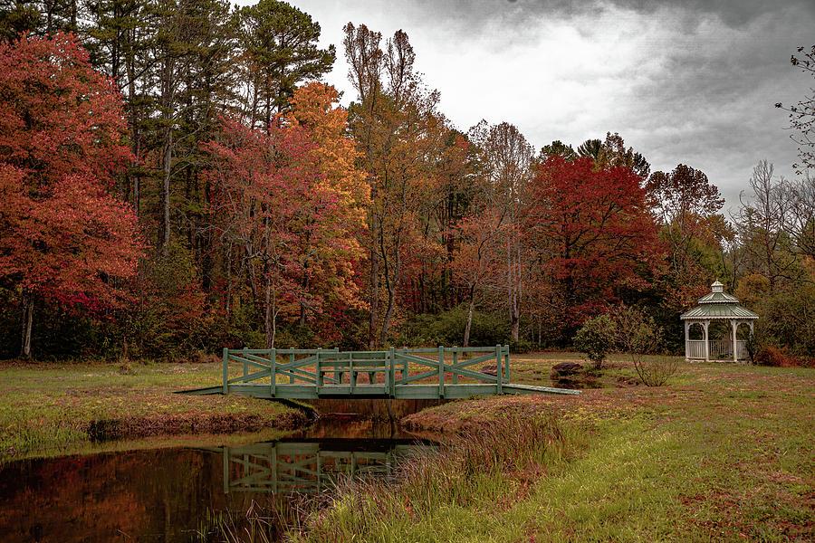 Gazebo in the Fall by Kelly Kennon