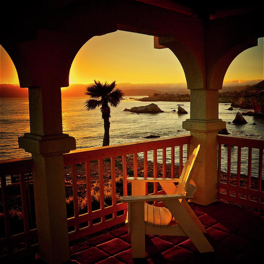 Gazebo View of Central California Coast by Flying Z Photography by Zayne Diamond