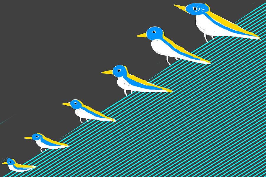 GAZING BIRDS by Anand Swaroop Manchiraju