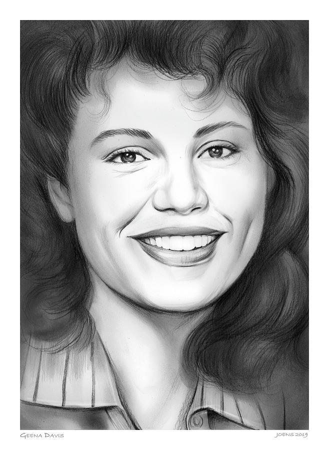 Geena Davis Drawing