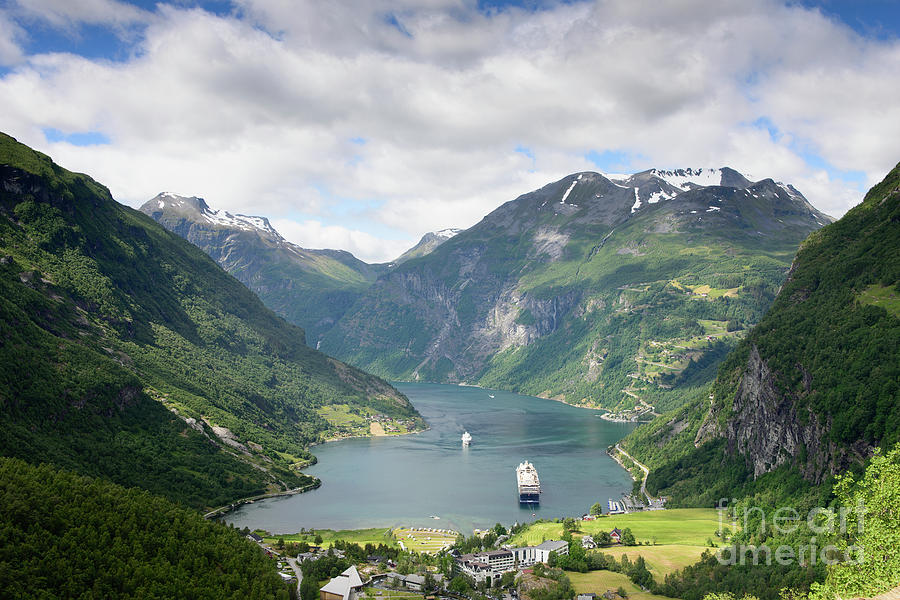 Geirangerfjord Photograph - Geiranger fjord view by IPics Photography