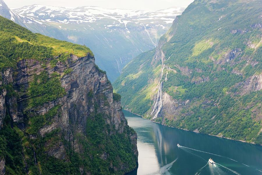 Geirangerfjord, Western Fjords, Norway Photograph by Peter Adams