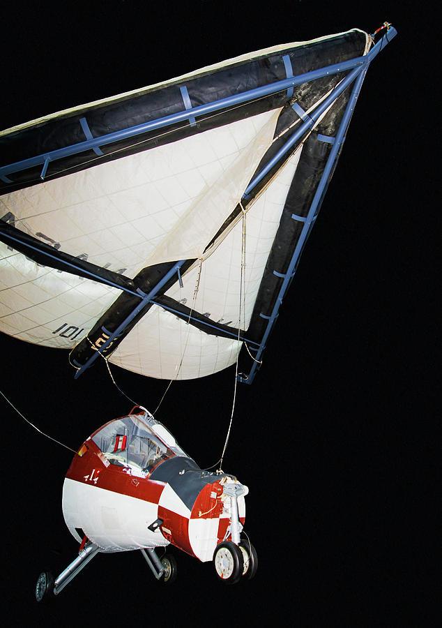 1960s Photograph - Gemini Ttv-1 Paraglider by Millard H. Sharp