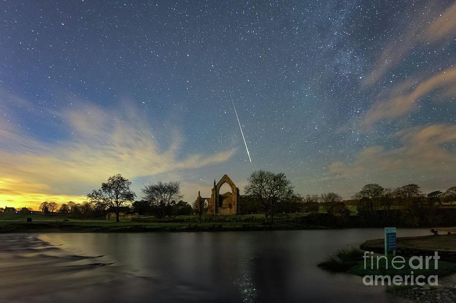 Geminid Meteor Caught In Bolton Abbey On 3rd December 2018 Photograph
