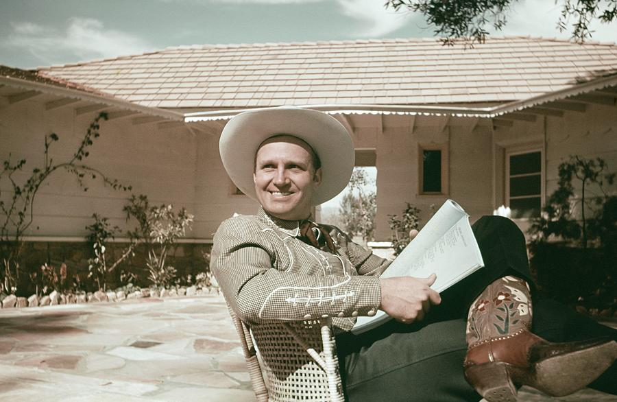 Gene Autry Reads A Script Photograph by Michael Ochs Archives