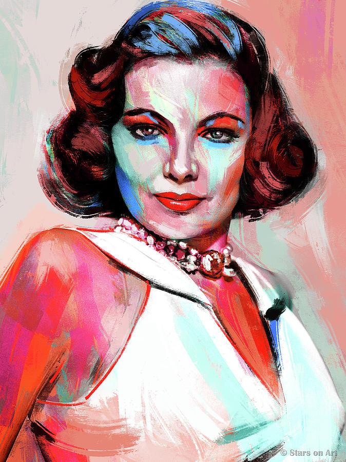 Gene Painting - Gene Tierney by Stars on Art