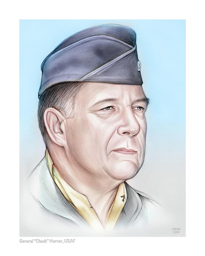 General Chuck Horner - Color by Greg Joens