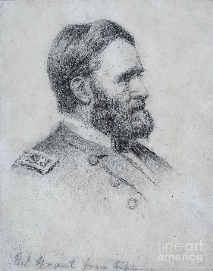 General Grant Sketch Civil War by Randy Steele