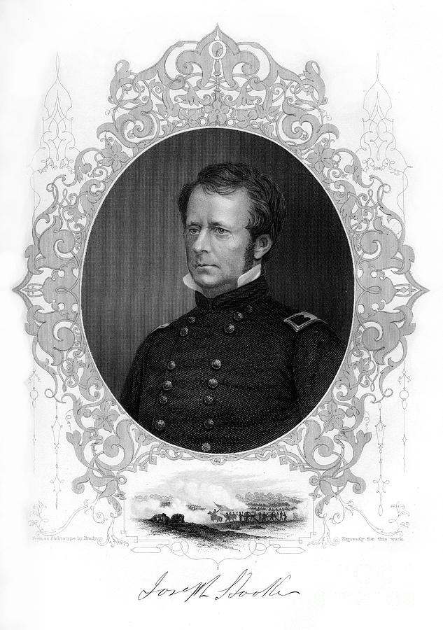 General Joseph Hooker, Major-general Drawing by Print Collector