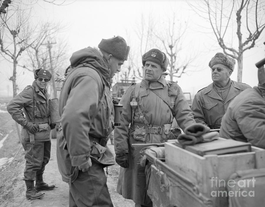 General Matthew Ridgway Conferring Photograph by Bettmann