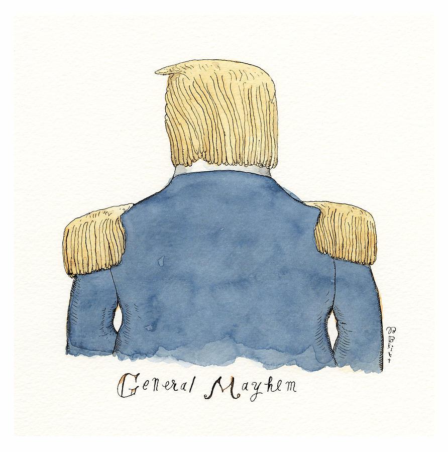 General Mayhem Drawing by Barry Blitt