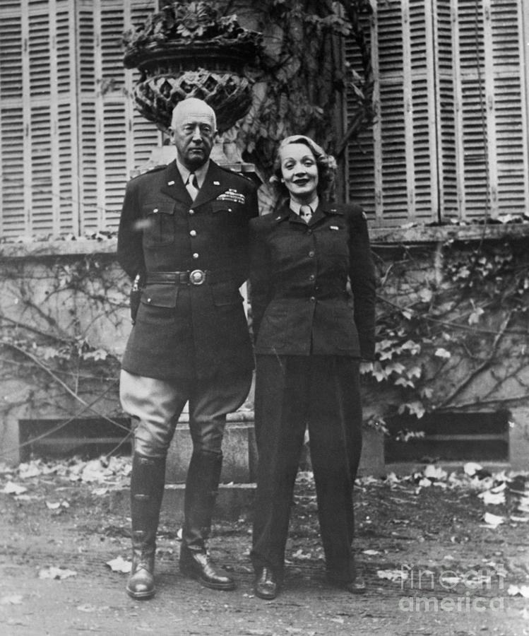 General Patton And Marlene Dietrich Photograph by Bettmann
