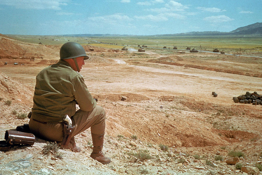 General Patton In The Desert Photograph by Eliot Elisofon