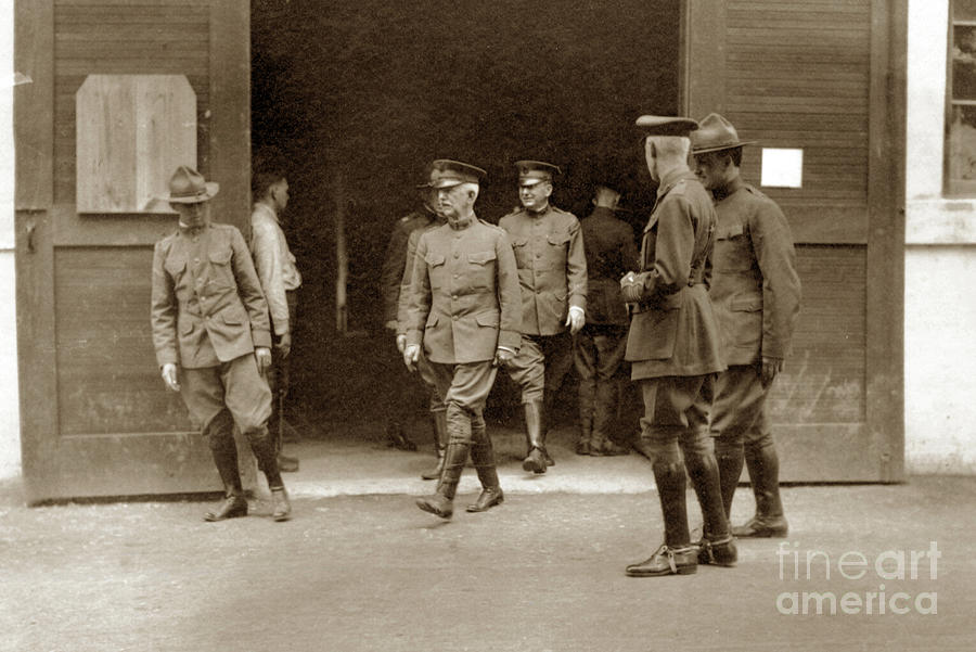 General Pershing visit to Base Hospital 34, U. S. A., Nantes, Fr by California Views Archives Mr Pat Hathaway Archives