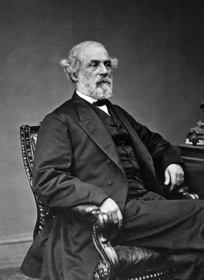 General Lee Photograph - General Robert E Lee Postbellum Portrait - 1869 by War Is Hell Store