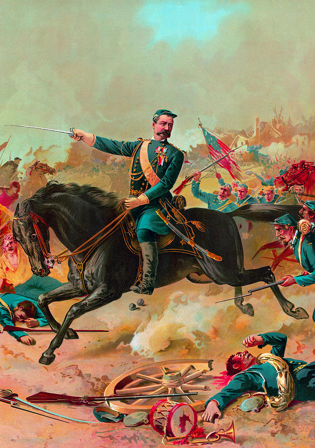 General Sheridan Leading Troops In Battle by War Is Hell Store